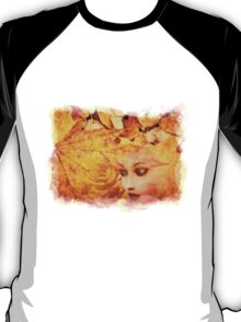 Autumn background and girl T-Shirt