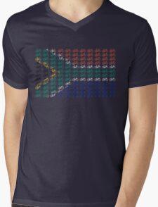 Bike Flag South Africa (Small) Mens V-Neck T-Shirt