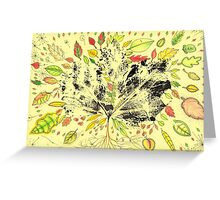 Autumn Inspired Leaves Greeting Card