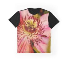 Pink clematis from the garden show Graphic T-Shirt