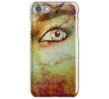 Autumn background and girl 2 iPhone Case/Skin