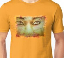 Autumn background and girl 2 Unisex T-Shirt