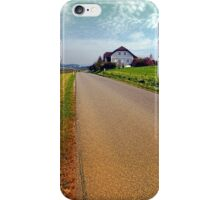 Country road into vibrant scenery | landscape photography iPhone Case/Skin