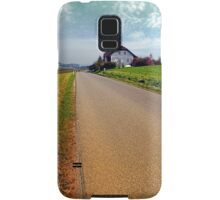 Country road into vibrant scenery | landscape photography Samsung Galaxy Case/Skin