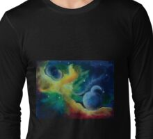 Across the Universe - Deep Space with moons Long Sleeve T-Shirt