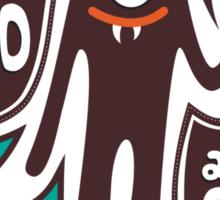Cute and Creepy Vampire illustration Sticker