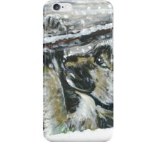 Puppy playing in Snow iPhone Case/Skin