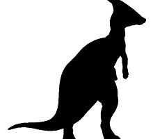 Parasaurolophus Silhouette by kwg2200