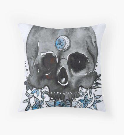 black moon Throw Pillow
