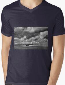 Sky Field 2 Mens V-Neck T-Shirt