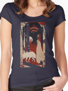 Le Chaperon Rouge Women's Fitted Scoop T-Shirt