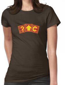 Crash Bandicoot Crates Womens Fitted T-Shirt