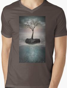 The Roots Below the Earth (Tree of Solitude) Mens V-Neck T-Shirt