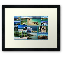 Collage/Postcard from Albania 3 - Travel Photography Framed Print