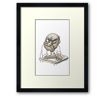 Angry about the rigged system. Framed Print