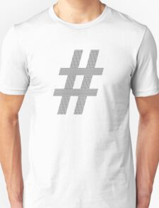 Hashtag of Hashtags in Black T-Shirt
