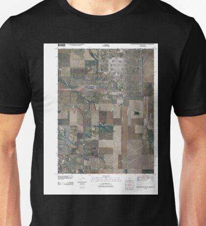 USGS TOPO Map Colorado CO Denver International Airport 20100808 TM Unisex T-Shirt