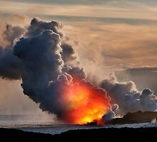 Sunset at Kalapana 3 by Alex Preiss
