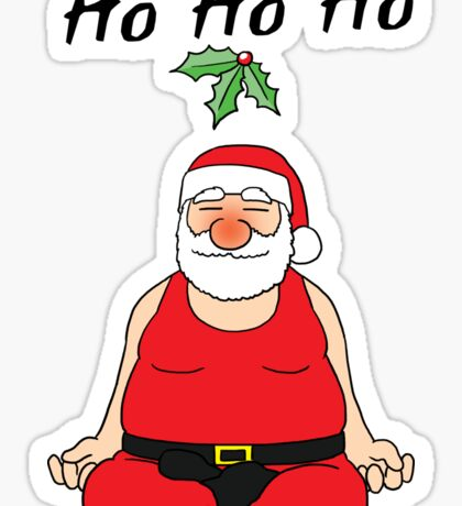 Yoga Position#2 Santa Christmas Family Gift T-Shirt Sticker