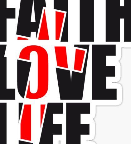 rot kreuz design jesus cool faith love life leben glauben lieben liebe text schrift christus rund könig  Sticker