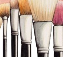 Makeup Brushes Sticker