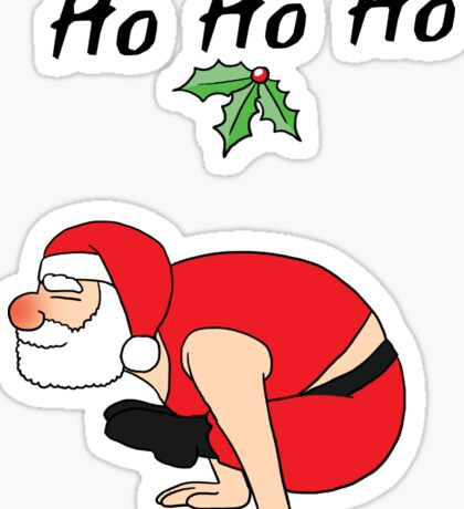 Yoga Position#5 Santa Christmas Family Gift T-Shirt Sticker