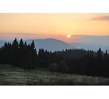 Sunset in Beskidy Photographic Print