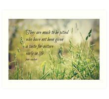 Jane Austen Nature Art Print