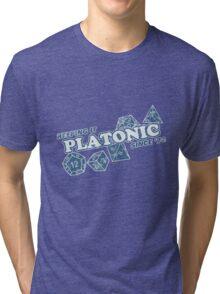 Favorite Platonic Love Since 74 Faded Tri-blend T-Shirt