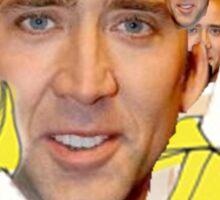 Nicolas Cage Egg Collage  Sticker
