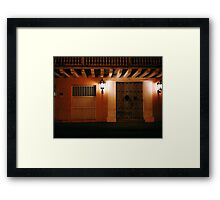 Waiting for Zorro Framed Print