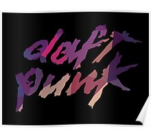 Daft Punk neon fractals Poster