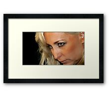 Blond Woman Strict Framed Print