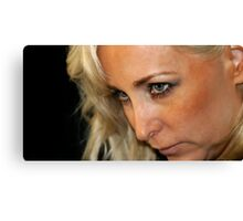 Blond Woman Strict Canvas Print