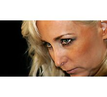 Blond Woman Strict Photographic Print