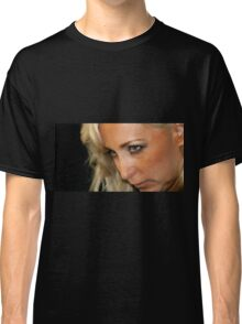 Blond Woman Strict Classic T-Shirt