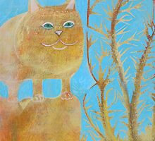 Fat 3 Legged Cat by cathiejoyyoung