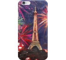 Paris New Years Eve firework iPhone Case/Skin