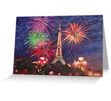 Paris New Years Eve firework Greeting Card