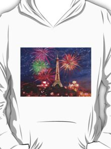 Paris New Years Eve firework T-Shirt