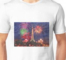 Paris New Years Eve firework Unisex T-Shirt