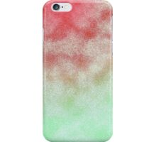 Cloudy Red and Green iPhone Case/Skin