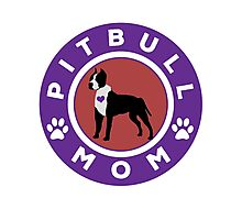 Pit bull Mom Photographic Print