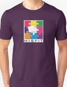 Misfit Puzzle Graphic Design T-Shirt