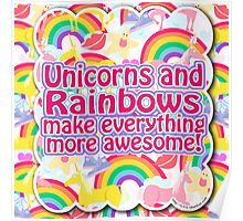 Unicorns and Rainbows Poster