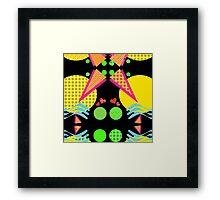 Neon New Wave Design Framed Print