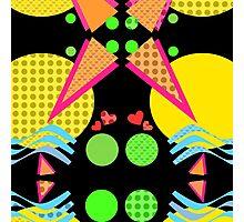 Neon New Wave Design Photographic Print