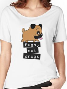 Little Pugs Not Drugs Women's Relaxed Fit T-Shirt