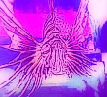 lion fish in purple pink light Sticker