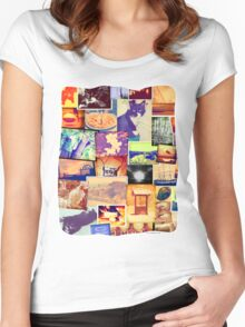 Fun Photo Collage Women's Fitted Scoop T-Shirt